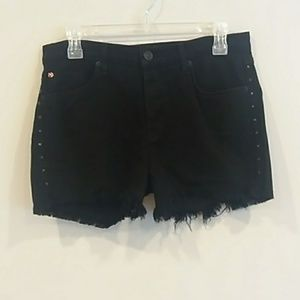 Hudson sz 27 black libertine jean shorts